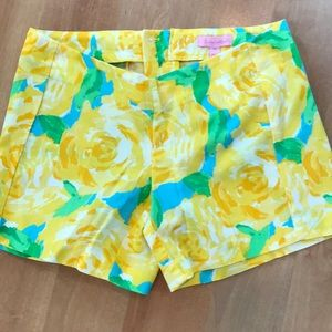Lilly Pulitzer First Impressions Yellow Shorts